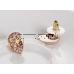 Borostyán köves Swarovski Elements kristály fülbevaló