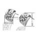 Fehér Swarovski Elements kristály fülbevaló