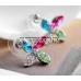 Szélforgó Swarovski Elements kristály fülbevaló